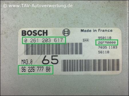 Прошивка Bosch 0 261 203 587