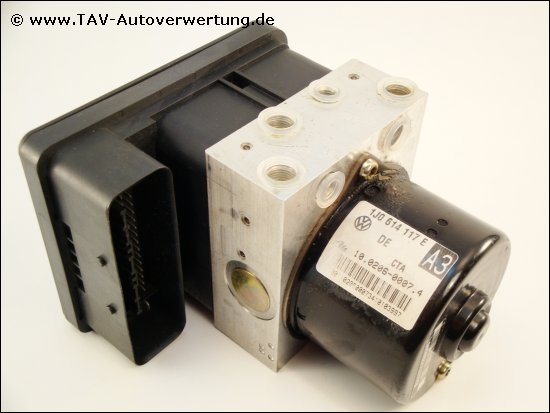 Abs Hydraulic Unit Vw 1j0 614 117 E 1c0 907 379 C Ate