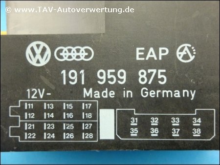 power window control unit vw
