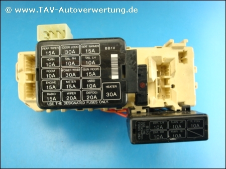 fuse block w central processing unit naldec tws b598a mazda rh tav autoverwertung de mazda 323 fuse box layout mazda 323 fuse box location