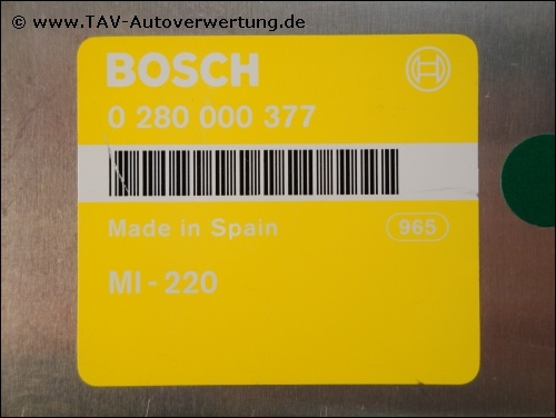 Motor steuergeraet bosch 0280000377 mi 220 seat ibiza for Bosch malaga