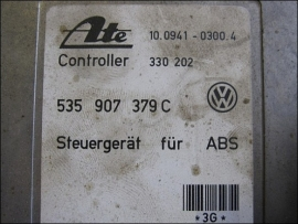 ABS Steuergeraet VW 535907379C Ate 10.0941-0300.4 330202