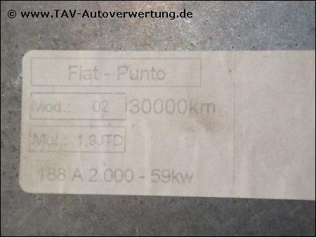 Diesel Engine control unit Fiat 46825756 Bosch 0-281-001-955, 85,00 €