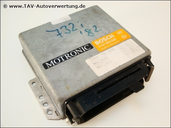 Engine control unit Bosch 0-261-200-040 Motronic BMW E23 732i 733i