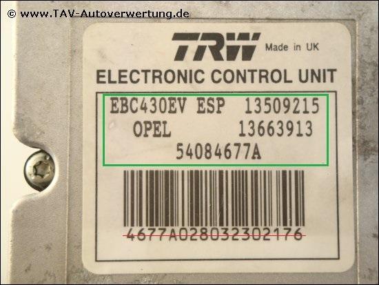 1 Flexible TRW phd566 convient pour OPEL VAUXHALL Chevrolet