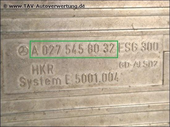 Fan control unit Mercedes A 027-545-80-32 ESG-300 System E