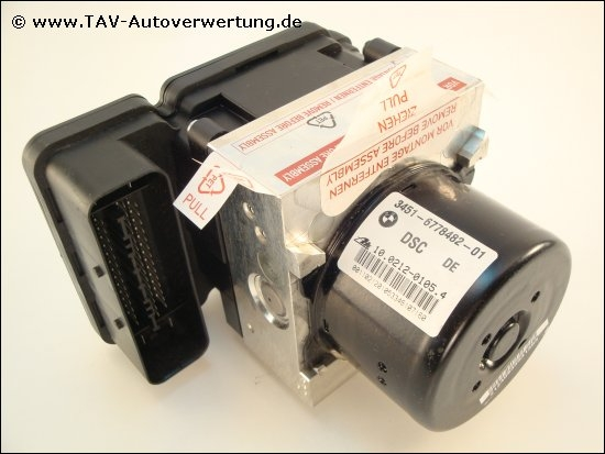 New! ABS/DSC Hydraulic unit BMW 34516778482-01 34526776062-01 Ate