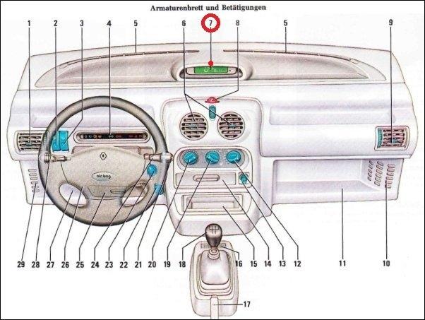 Dash Board Speedometer 7700820024 Borg 22090 Renault Twingo Central Display 7711: Renault Wiring Diagrams Twingo At Jornalmilenio.com