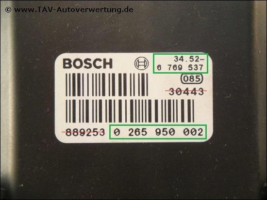 abs dsc steuergeraet bosch 0265950002 34522285051 bmw 5. Black Bedroom Furniture Sets. Home Design Ideas