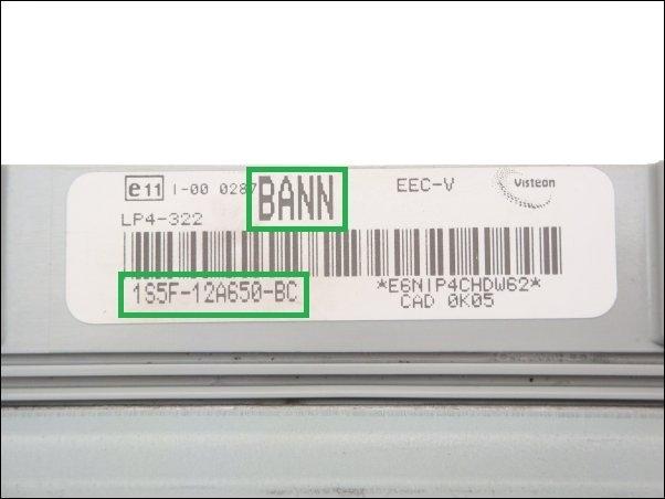 Engine control unit Ford 1S5F12A650BC BANN LP4322 EECV, 125,00 €
