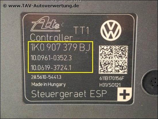 24Monate Garantie* ABS 1K0614517DG 25021217674 1K0907379BJ 10096103523 VW