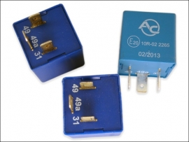 Blink-Warnlicht-Relais (2+1)/6x21W+1/2x0..10W Flasher relay fuer Anhaengerbetrieb
